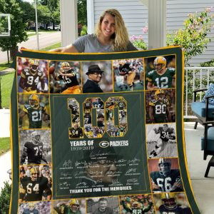 100th Green Bay Packers Quilt Blanket I1d5