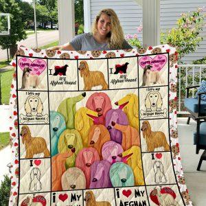 Afghan Hound Dog 1 Quilt Blanket I1d1