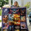 Bald Eagle American Flag Wind Quilt Blanket