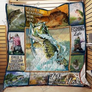 Bass Fishing Quilt Np96