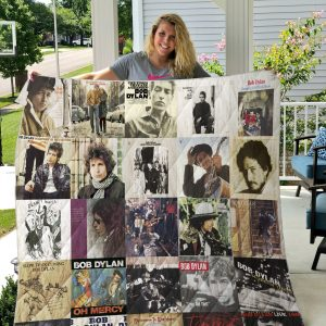 Bob Dylan Style 2 Quilt Blanket