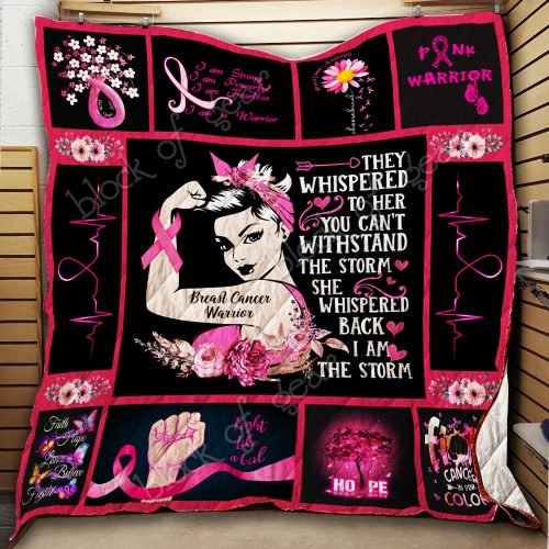 Breast Cancer Warrior Quilt Thh854