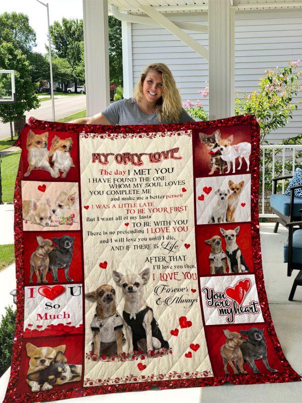 Chihuahua Dog V2 Quilt Blanket I1d2