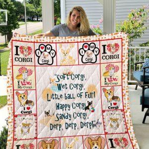 Corgi Dog 1 Quilt Blanket I1d1