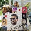 Kanye West Quilt Blanket