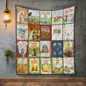 Laura Ingalls Wilder Books Quilt Blanket