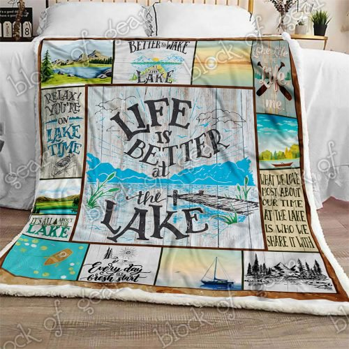 Life Is Better At The Lake Sofa Blanket Np185