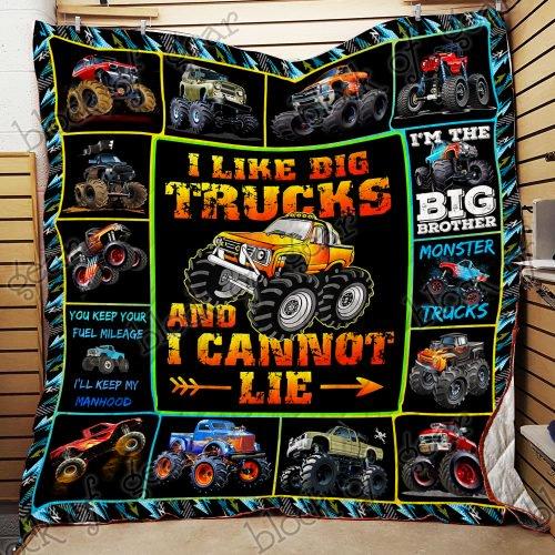 Monster Truck Quilt Nh107