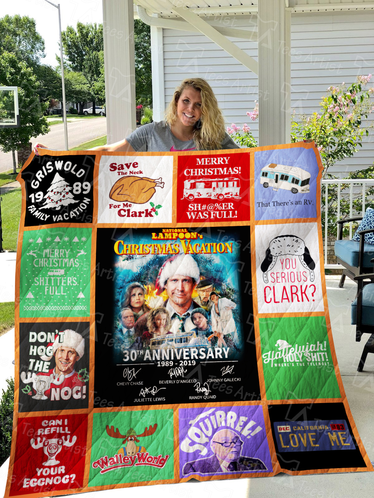 National Lampoon's Christmas Vacation Quilt Blanket 01490