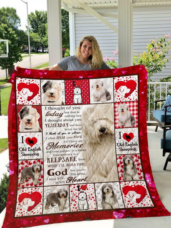 Old English Sheep Dog Quilt Blanket I1d2