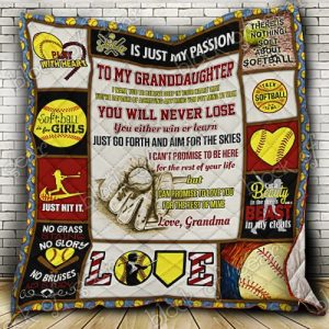 Softball Granddaughter, Love Grandma Quilt Ps236
