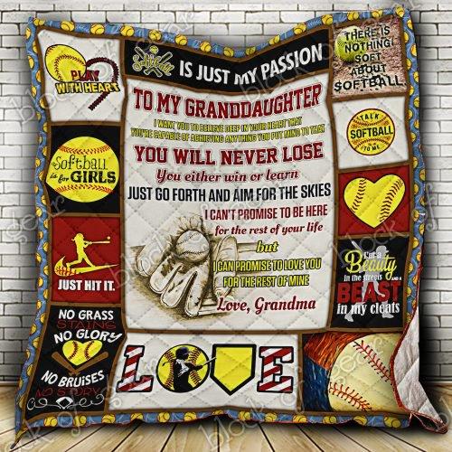 Softball Granddaughter, Love Grandma Quilt Ps236