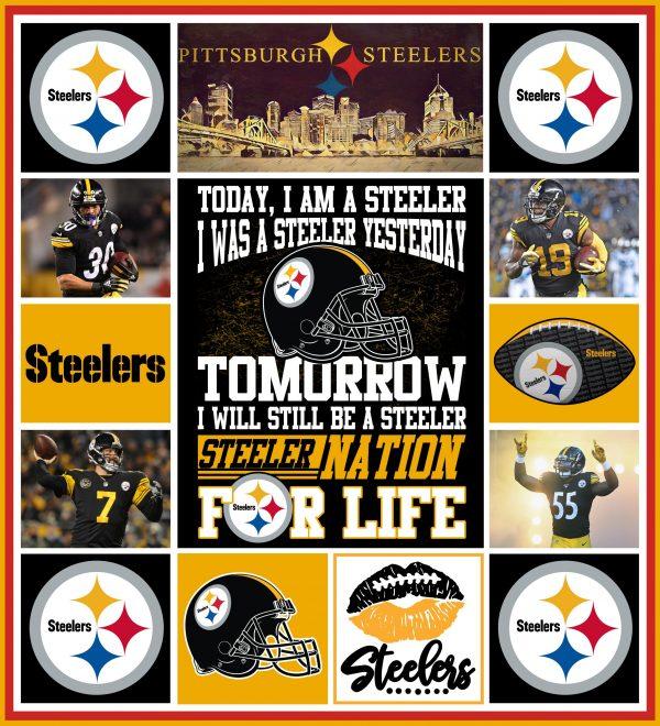 Steelers Quilt Blanket 01
