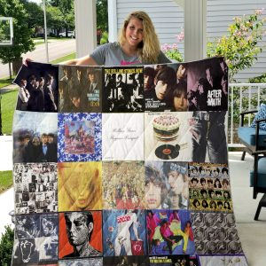 The Rolling Stones Style 2 Quilt Blanket
