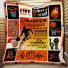 To My Grandson, Basketball Quilt Thh871