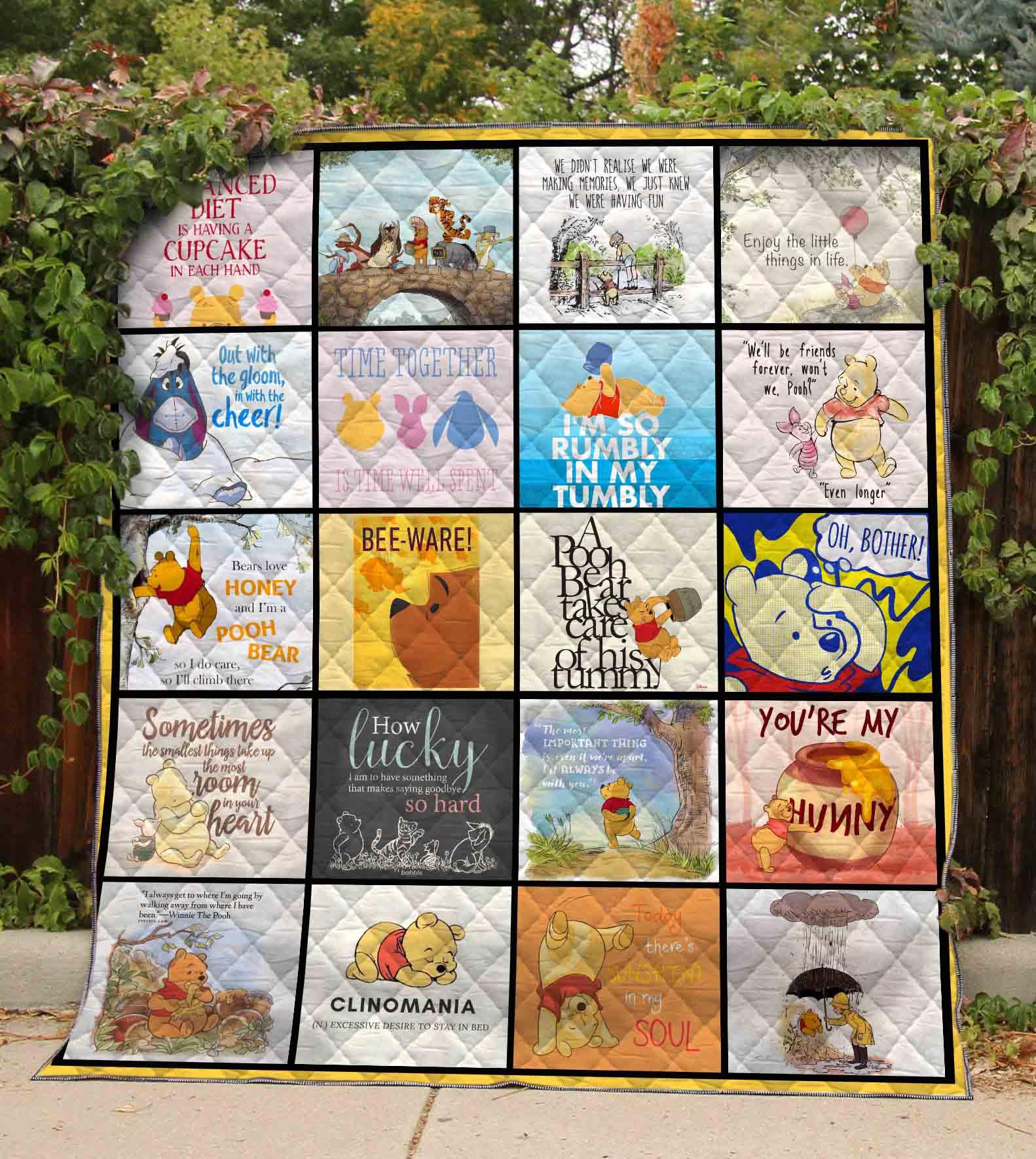 Winnie The Pooh Quilt Blanket 01